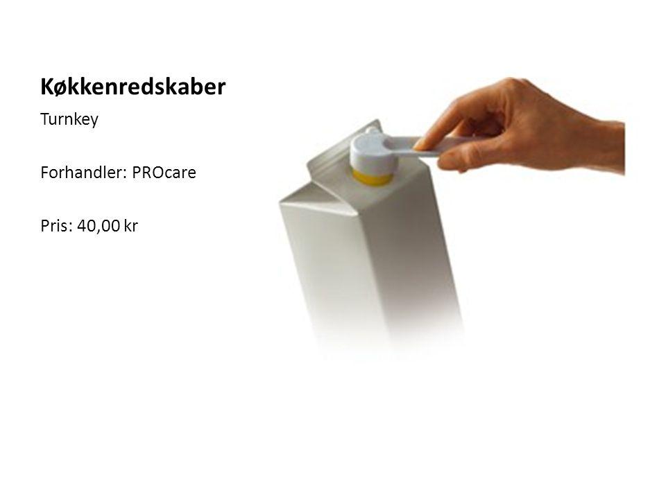 Køkkenredskaber Turnkey Forhandler: PROcare Pris: 40,00 kr