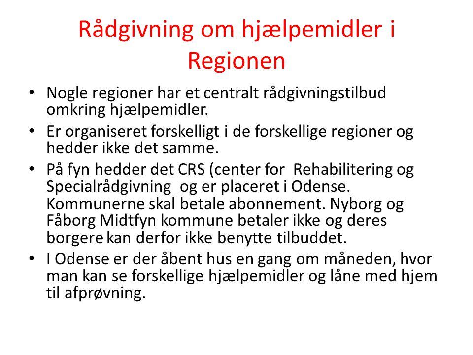 Rådgivning om hjælpemidler i Regionen