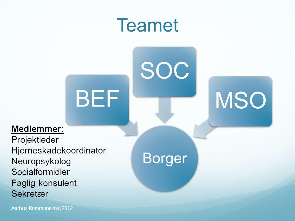 SOC BEF MSO Teamet Borger Medlemmer: Projektleder
