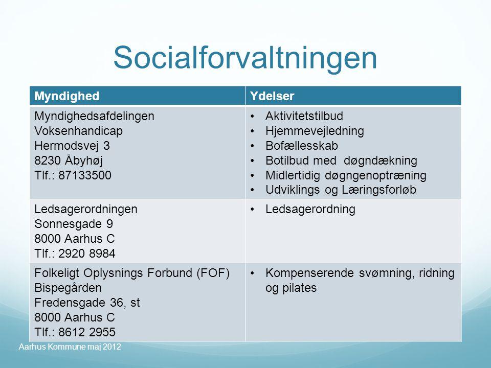 Socialforvaltningen Myndighed Ydelser Myndighedsafdelingen
