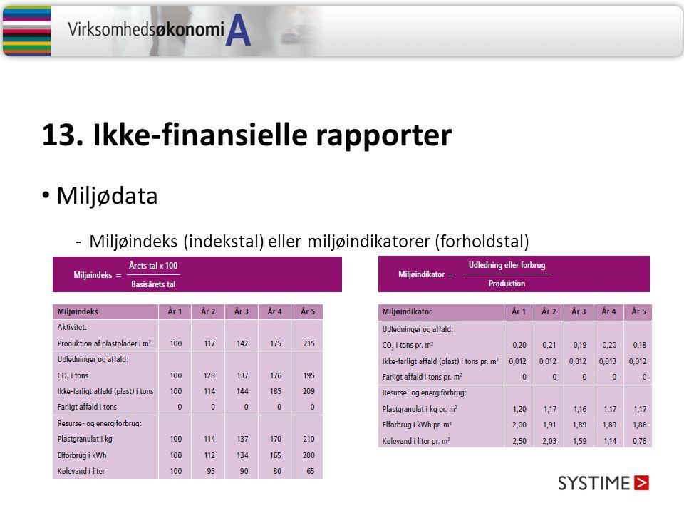 13. Ikke-finansielle rapporter