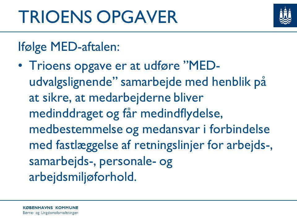 TRIOENS OPGAVER Ifølge MED-aftalen: