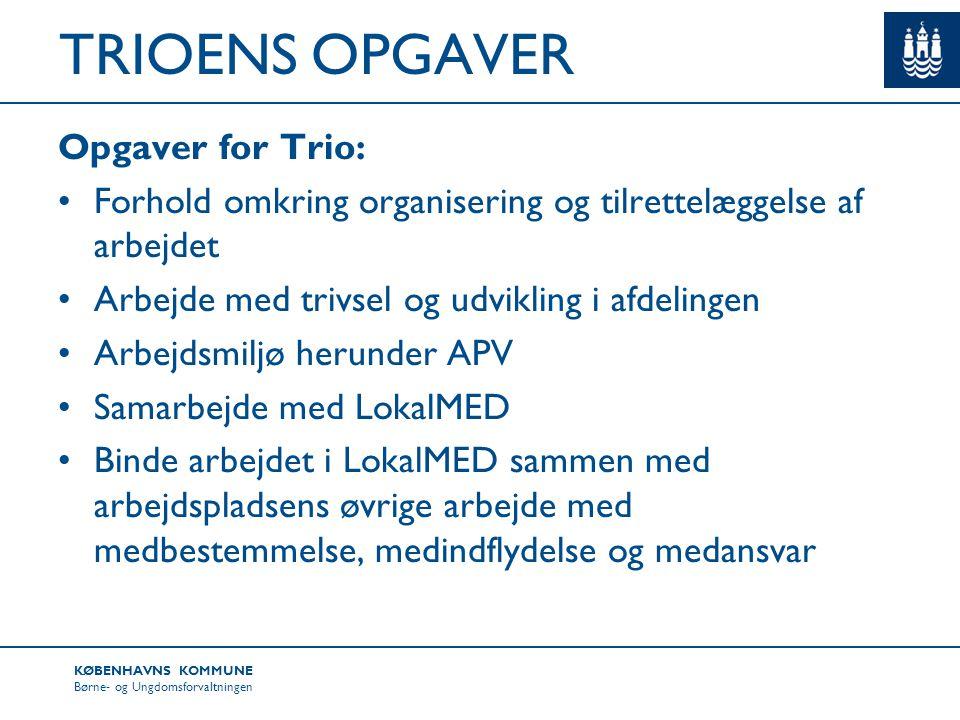 TRIOENS OPGAVER Opgaver for Trio: