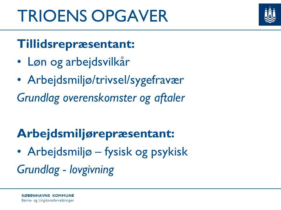 TRIOENS OPGAVER Tillidsrepræsentant: Løn og arbejdsvilkår