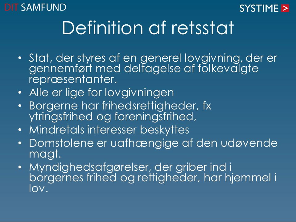 Definition af retsstat