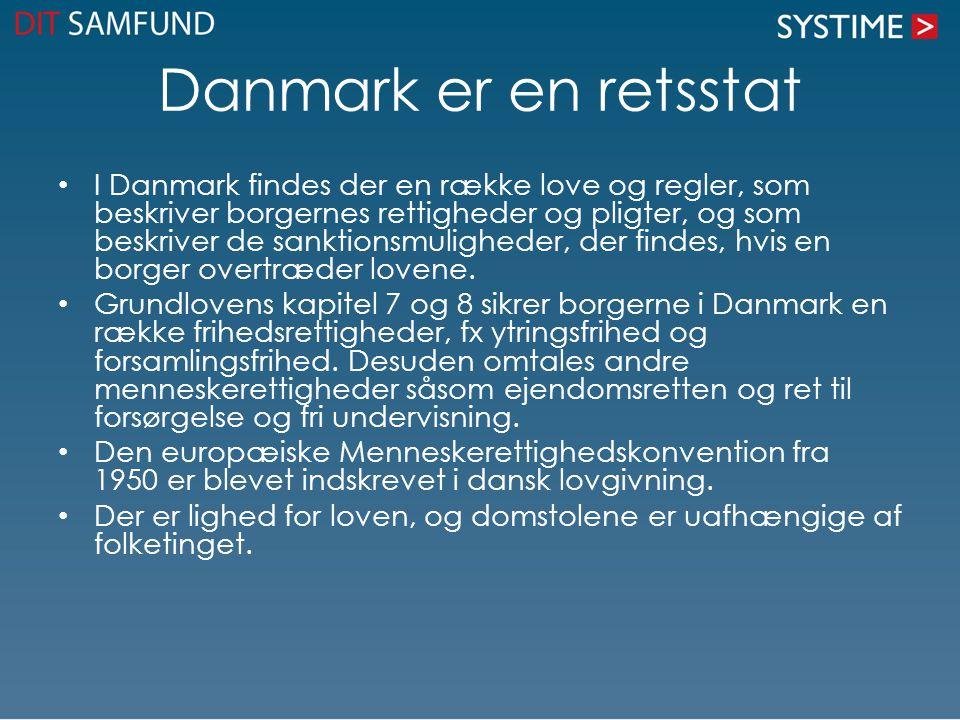 Danmark er en retsstat