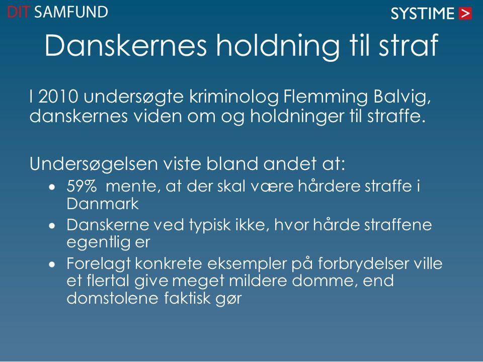 Danskernes holdning til straf