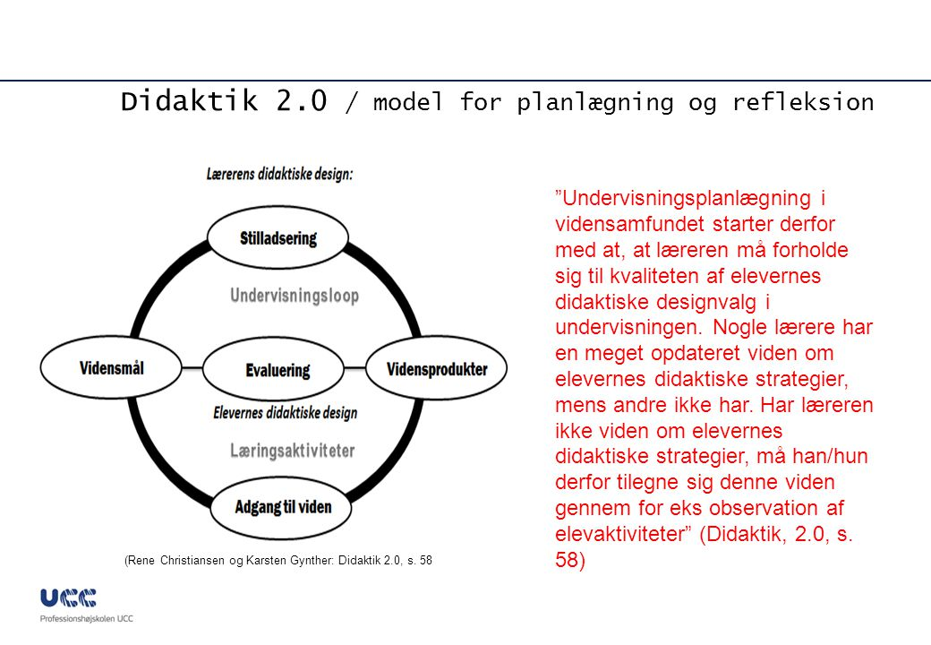 Didaktik 2.0 / model for planlægning og refleksion