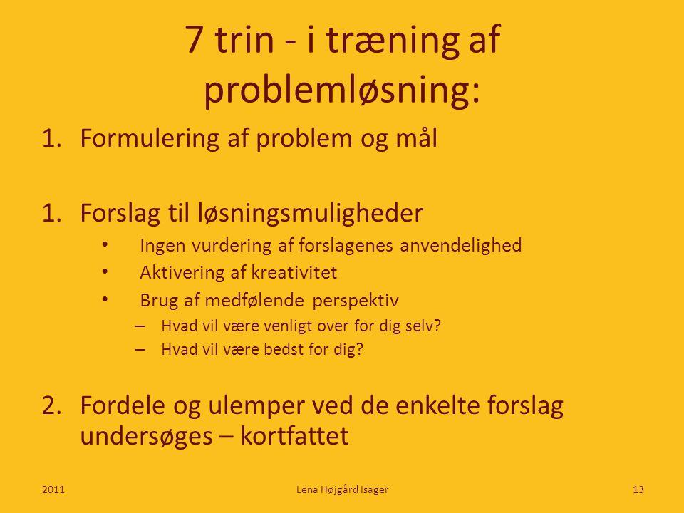 7 trin - i træning af problemløsning: