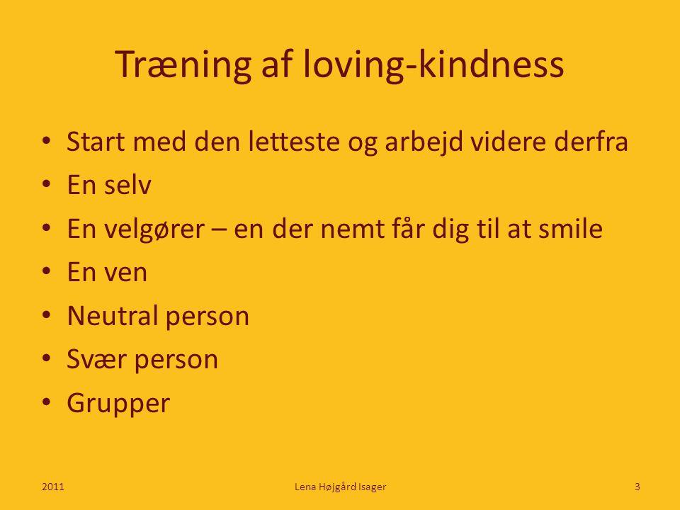 Træning af loving-kindness