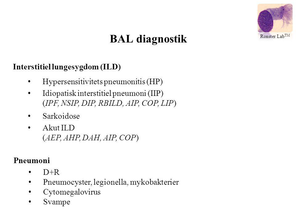 BAL diagnostik Interstitiel lungesygdom (ILD)