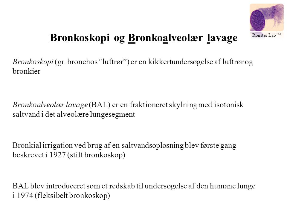 Bronkoskopi og Bronkoalveolær lavage