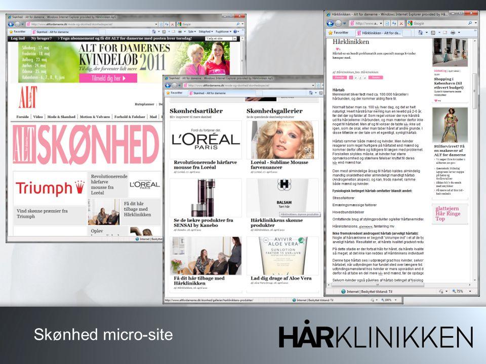 Skønhed micro-site