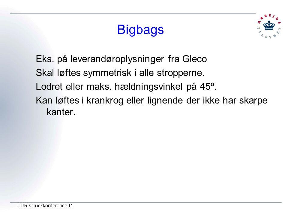 Bigbags Eks. på leverandøroplysninger fra Gleco