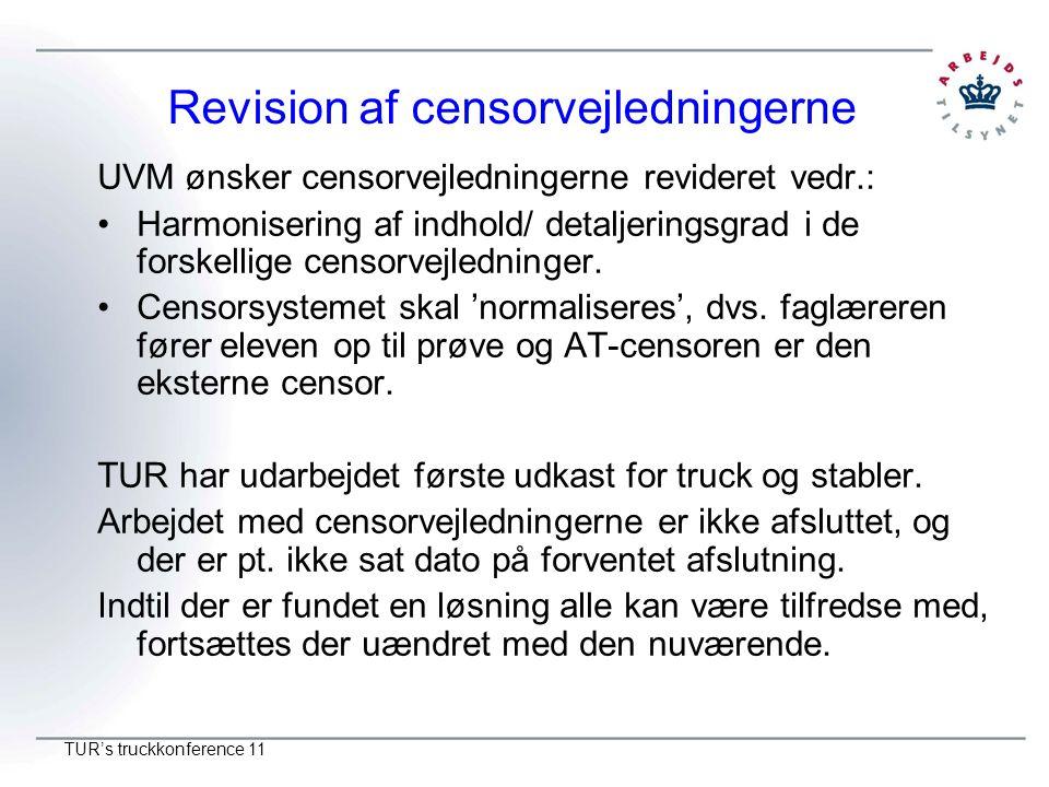 Revision af censorvejledningerne