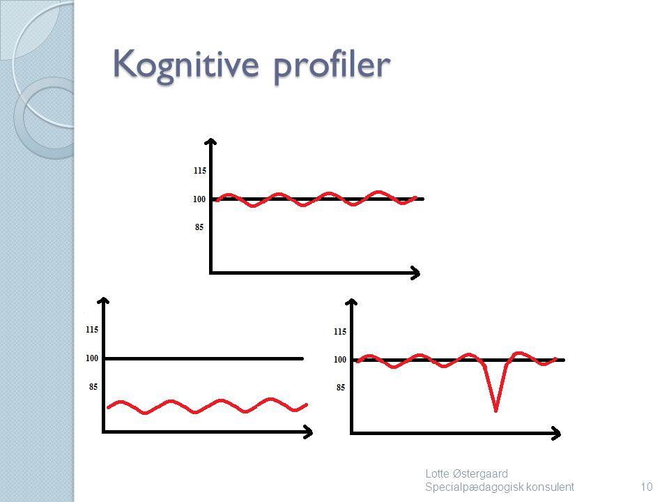 Kognitive profiler Lotte Østergaard Specialpædagogisk konsulent