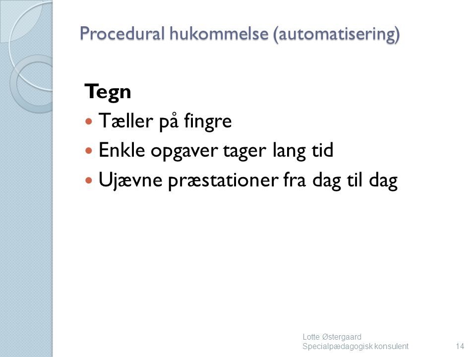 Procedural hukommelse (automatisering)