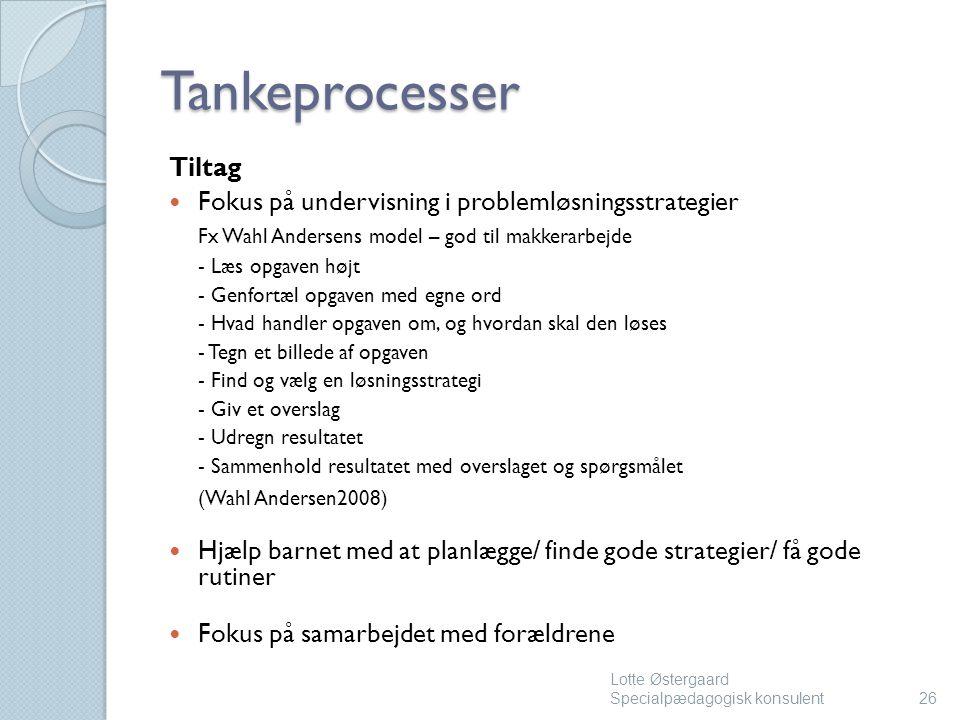Tankeprocesser Tiltag