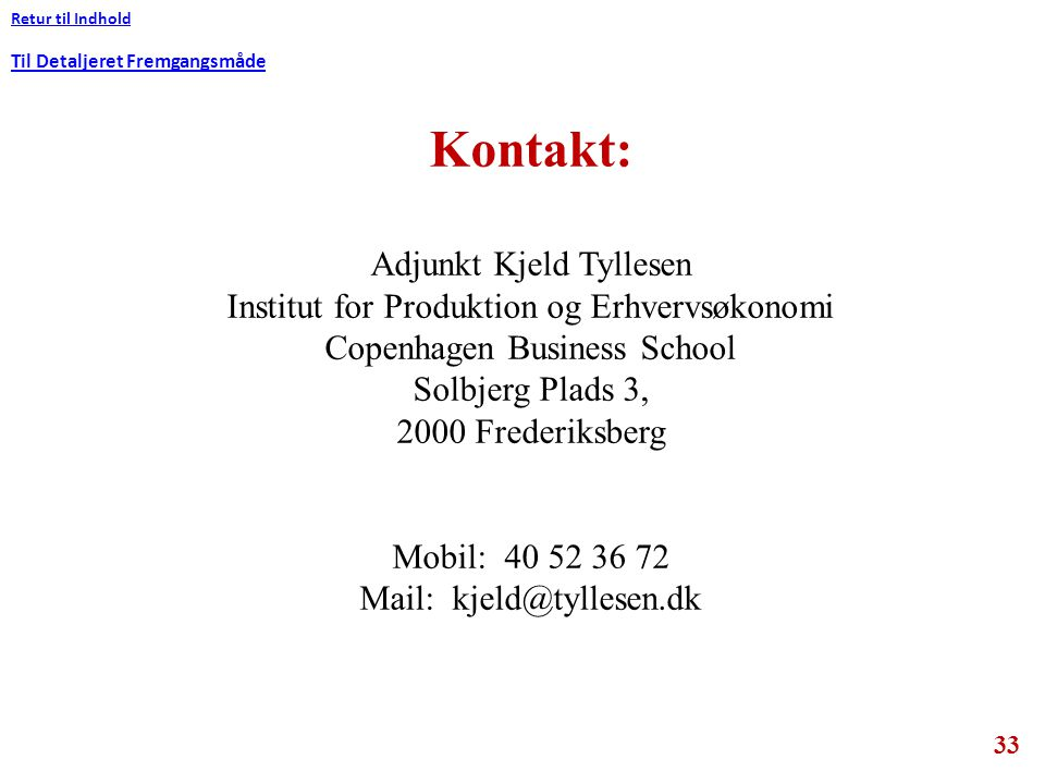 Kontakt: Adjunkt Kjeld Tyllesen