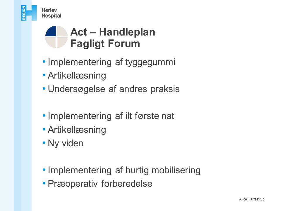 Act – Handleplan Fagligt Forum