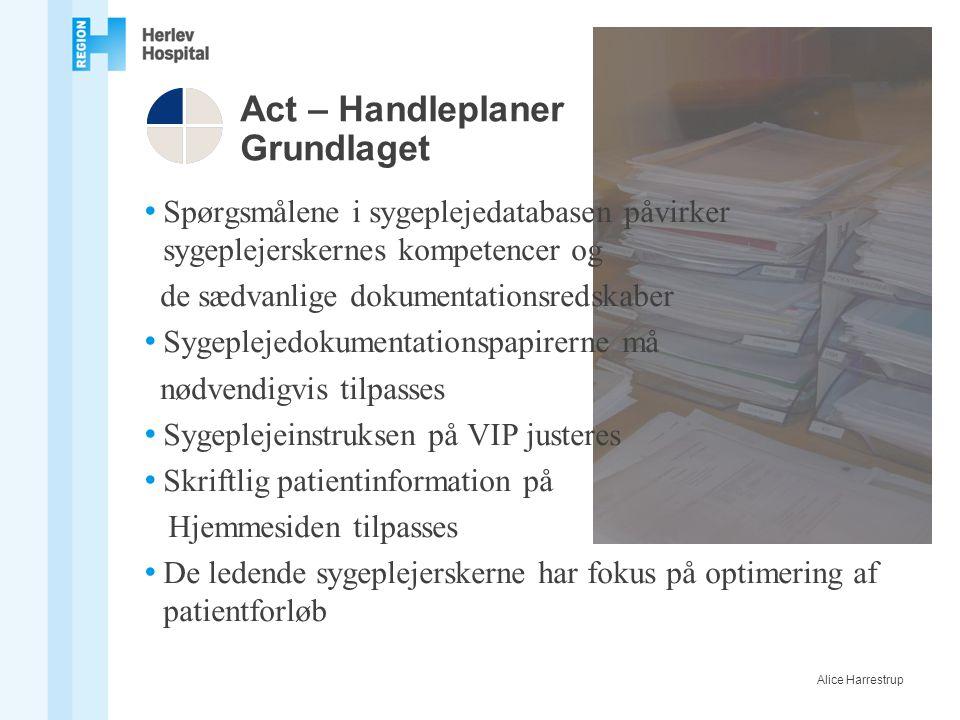 Act – Handleplaner Grundlaget