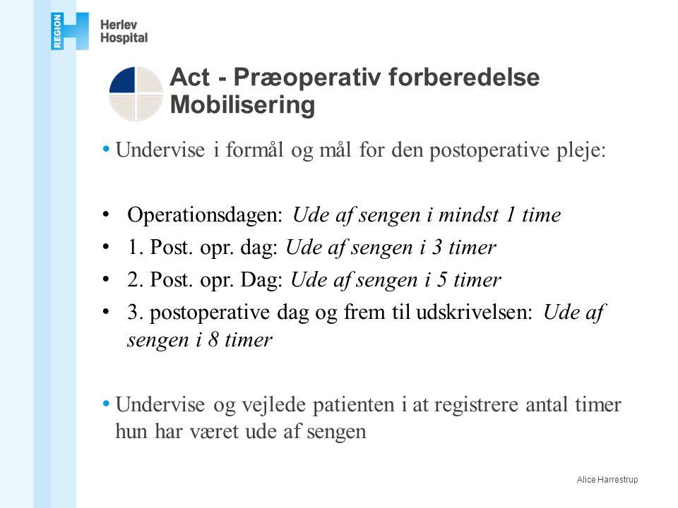 Act - Præoperativ forberedelse Mobilisering