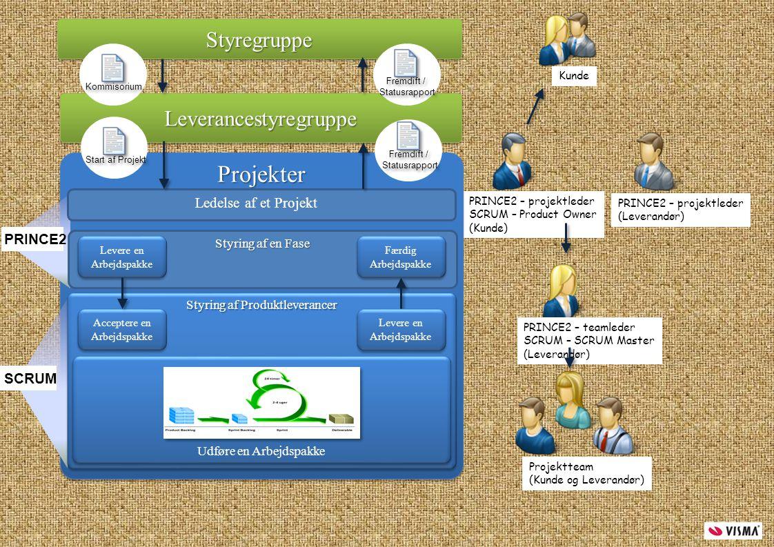 Projekter Styregruppe Leverancestyregruppe Ledelse af et Projekt
