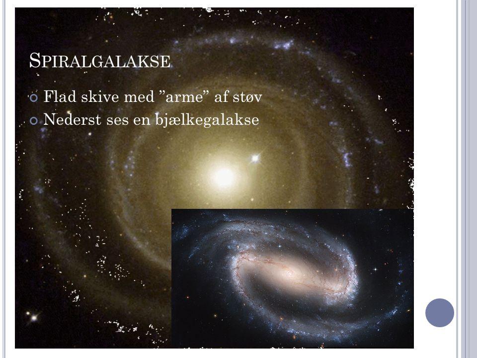 Spiralgalakse Flad skive med arme af støv