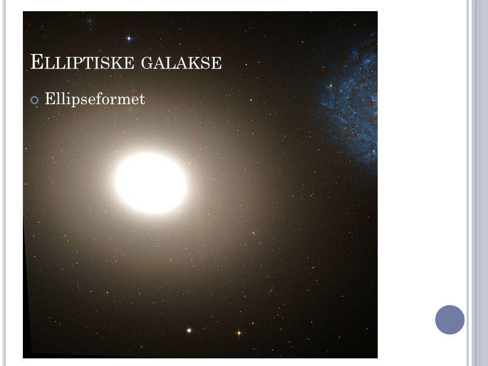 Elliptiske galakse Ellipseformet
