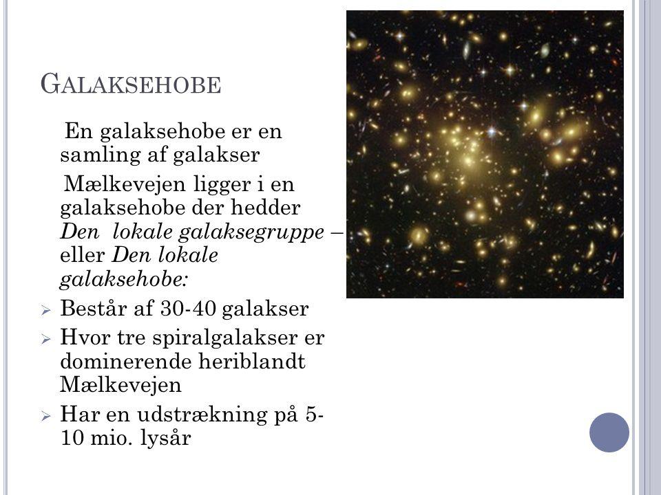Galaksehobe En galaksehobe er en samling af galakser
