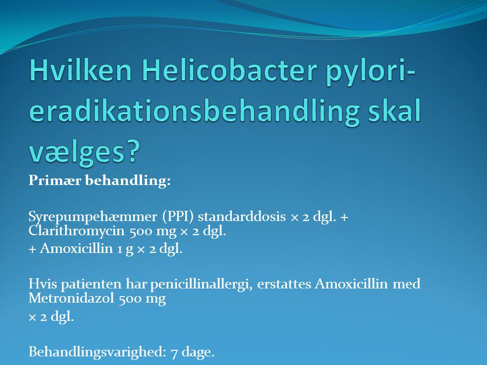 helicobacter pylori puste prøve
