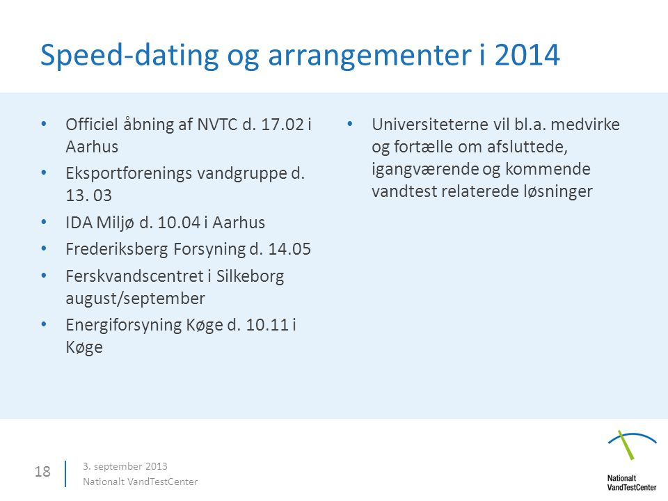 Speed dating arrangementer