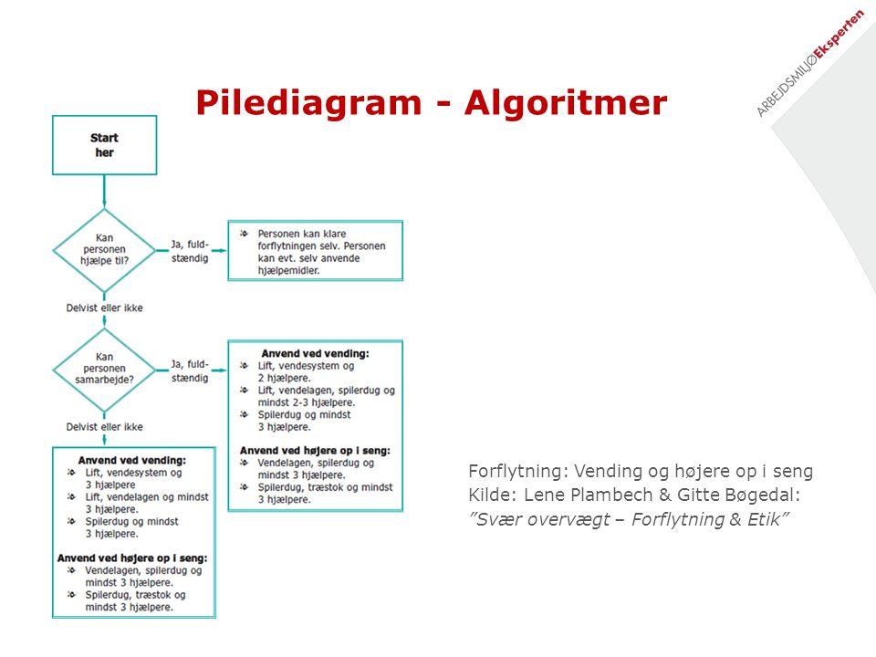 Pilediagram - Algoritmer