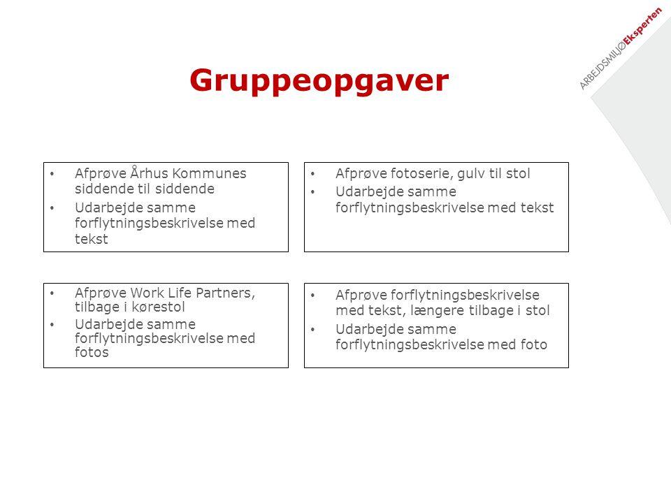 Gruppeopgaver Afprøve Århus Kommunes siddende til siddende