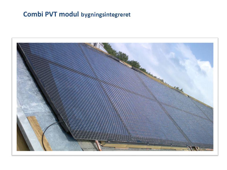 Combi PVT modul bygningsintegreret