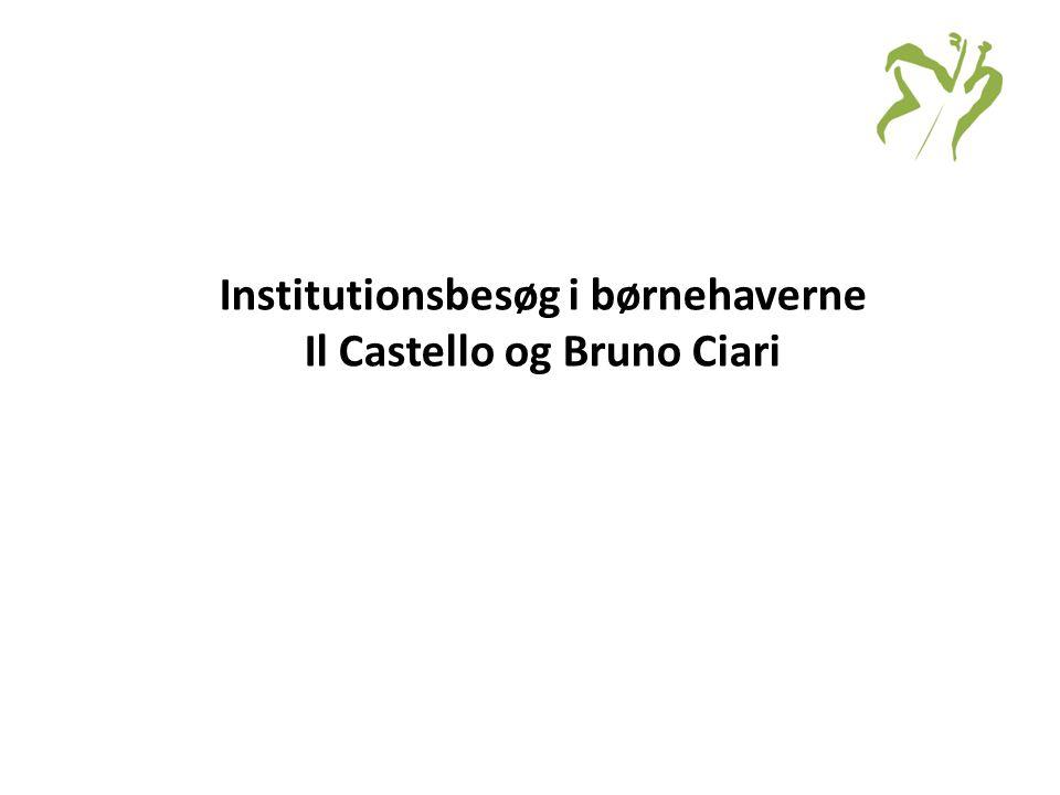 Institutionsbesøg i børnehaverne Il Castello og Bruno Ciari