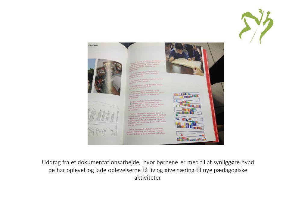 Uddrag fra et dokumentationsarbejde, hvor børnene er med til at synliggøre hvad de har oplevet og lade oplevelserne få liv og give næring til nye pædagogiske aktiviteter.