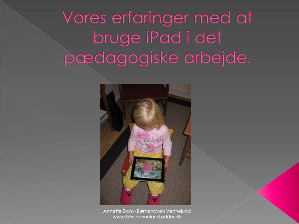 Vores erfaringer med at bruge iPad i det pædagogiske arbejde.