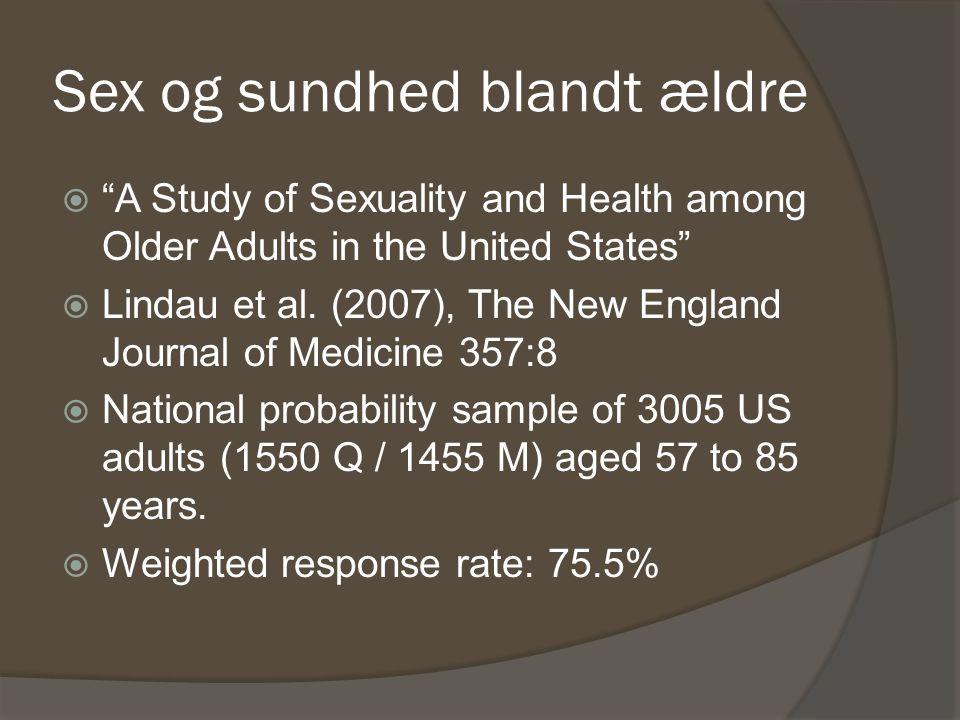 Sex og sundhed blandt ældre