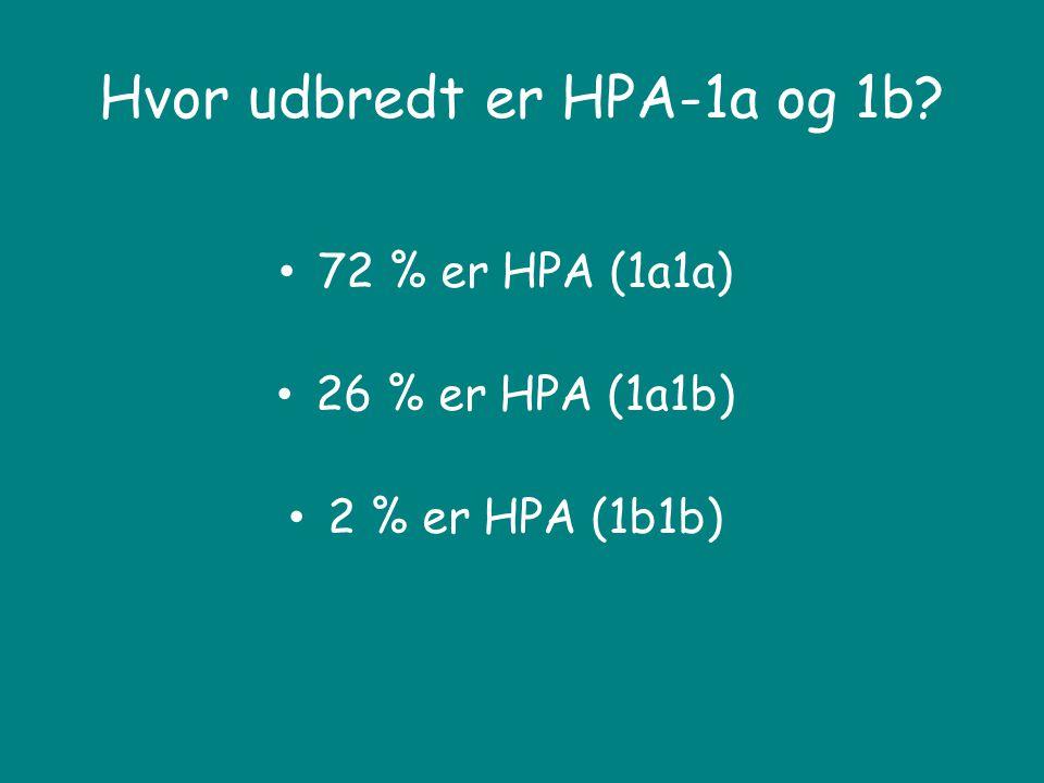 Hvor udbredt er HPA-1a og 1b