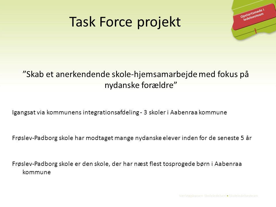 Task Force projekt Skab et anerkendende skole-hjemsamarbejde med fokus på nydanske forældre