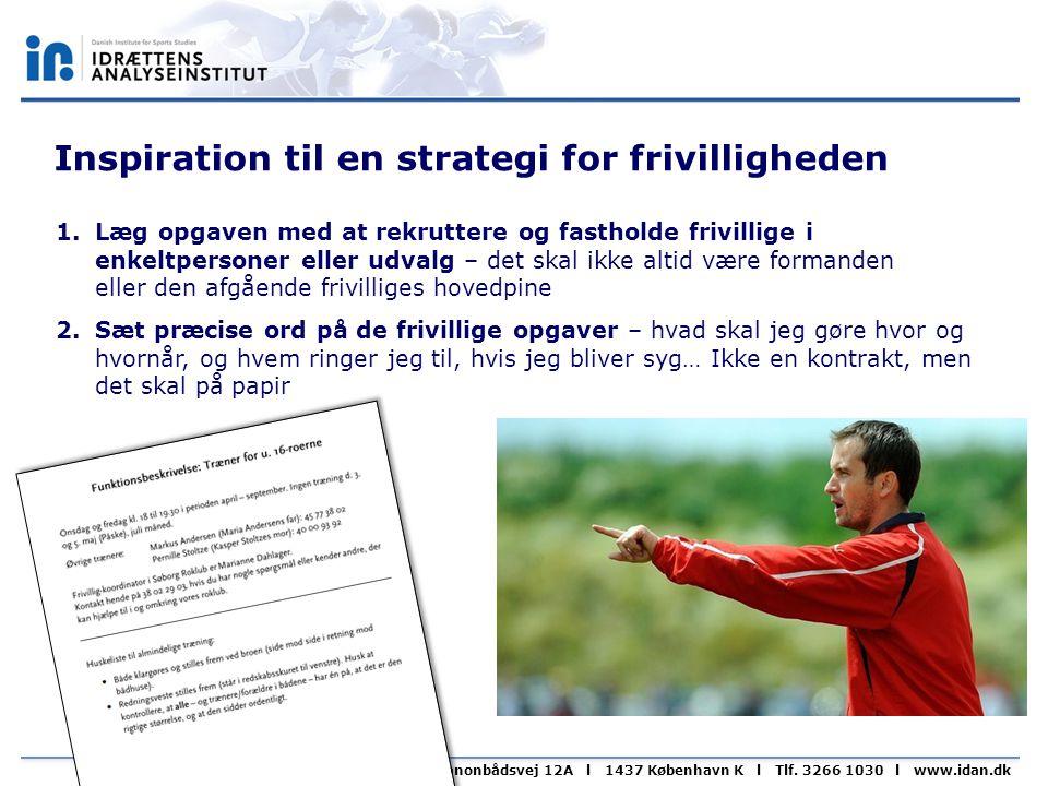 Inspiration til en strategi for frivilligheden