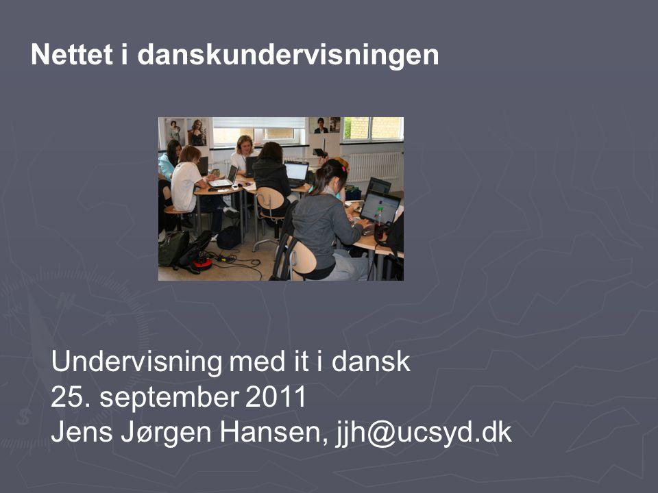 Nettet i danskundervisningen