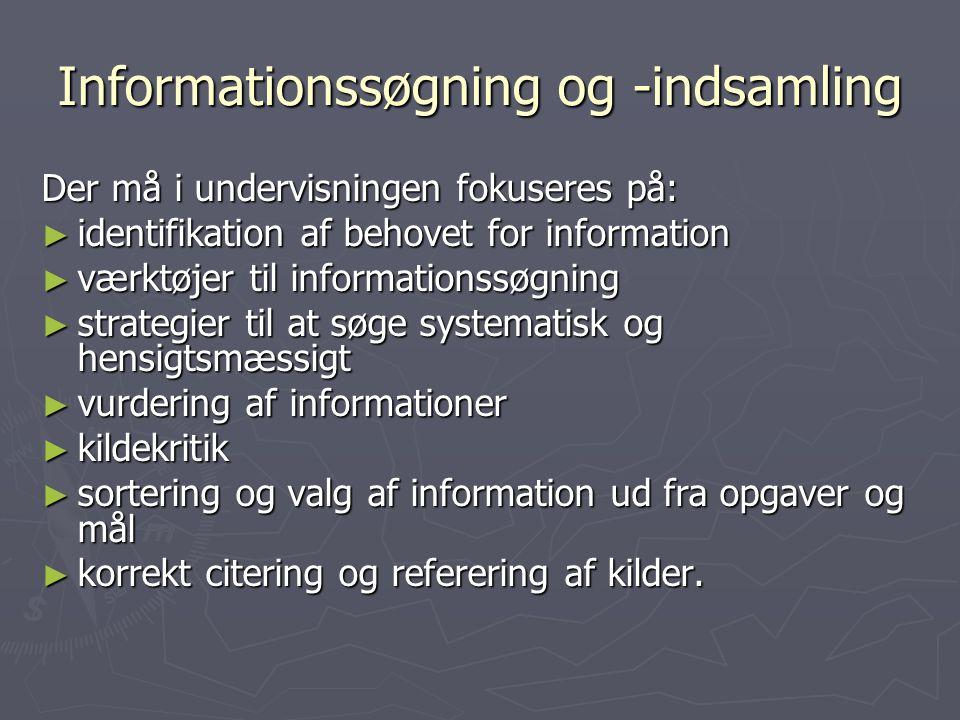 Informationssøgning og -indsamling