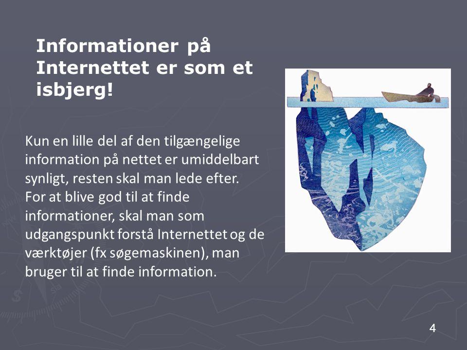 Informationer på Internettet er som et isbjerg!