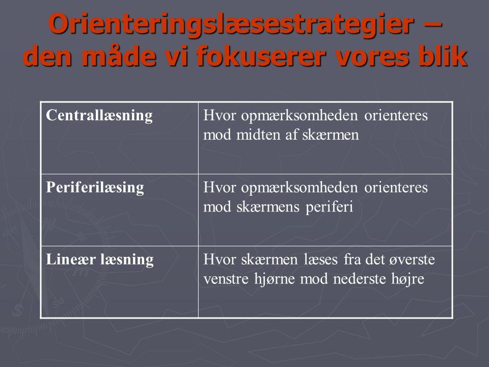 Orienteringslæsestrategier – den måde vi fokuserer vores blik