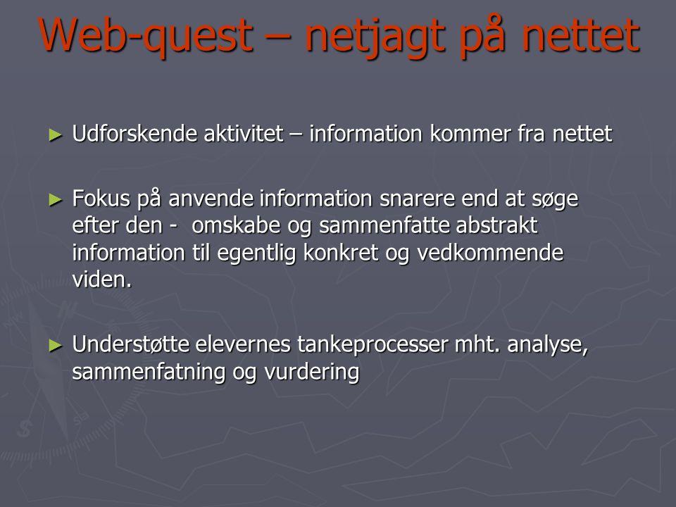 Web-quest – netjagt på nettet