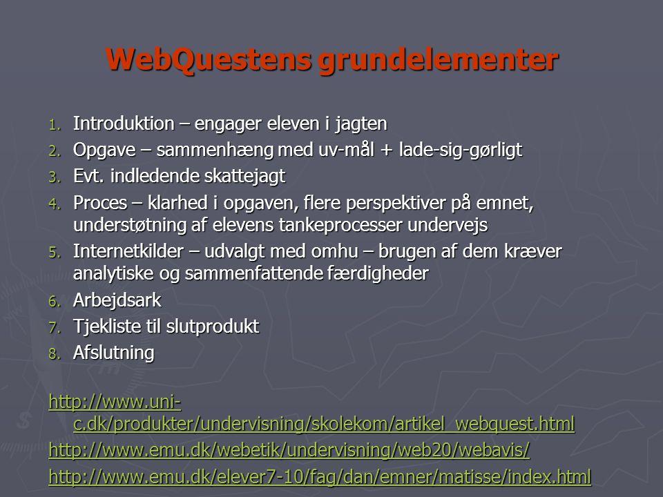 WebQuestens grundelementer