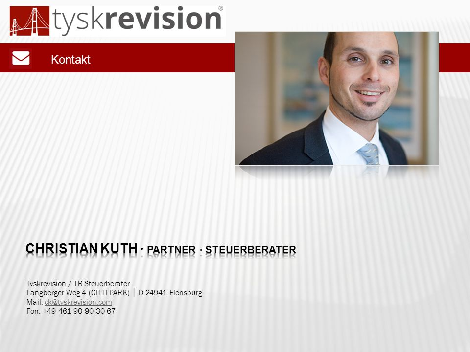 Christian kuth ∙ partner ∙ steuerberater