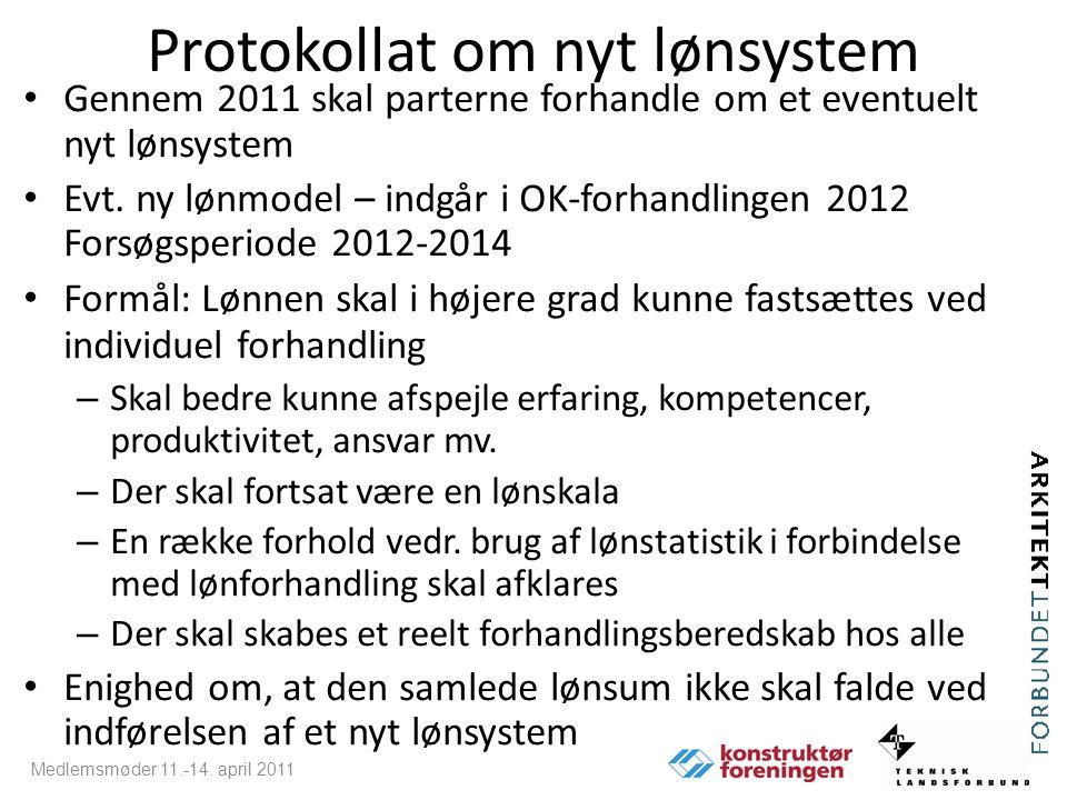 Protokollat om nyt lønsystem